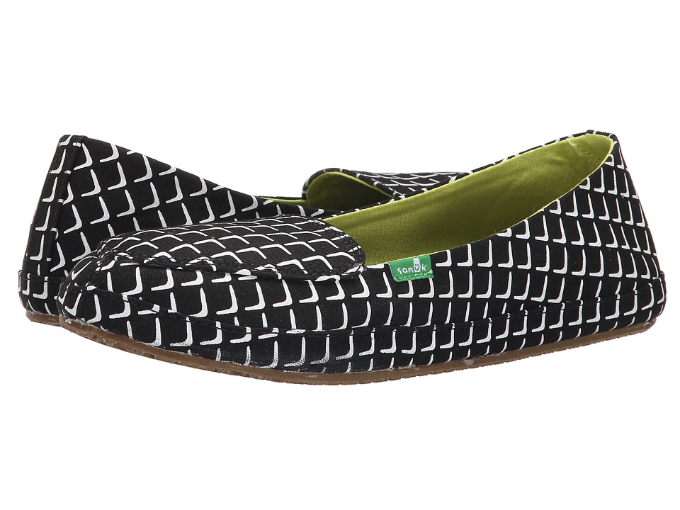 Sanuk - Blanche Prints (Black Cube) Women's Slip on Shoes