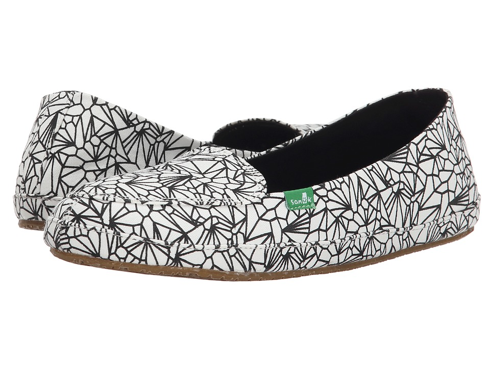 Sanuk Blanche Prints (White Geode) Women