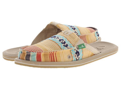 Sanuk - Getaway 2 (Dusty Yellow/Multi) Women's Slip on Shoes