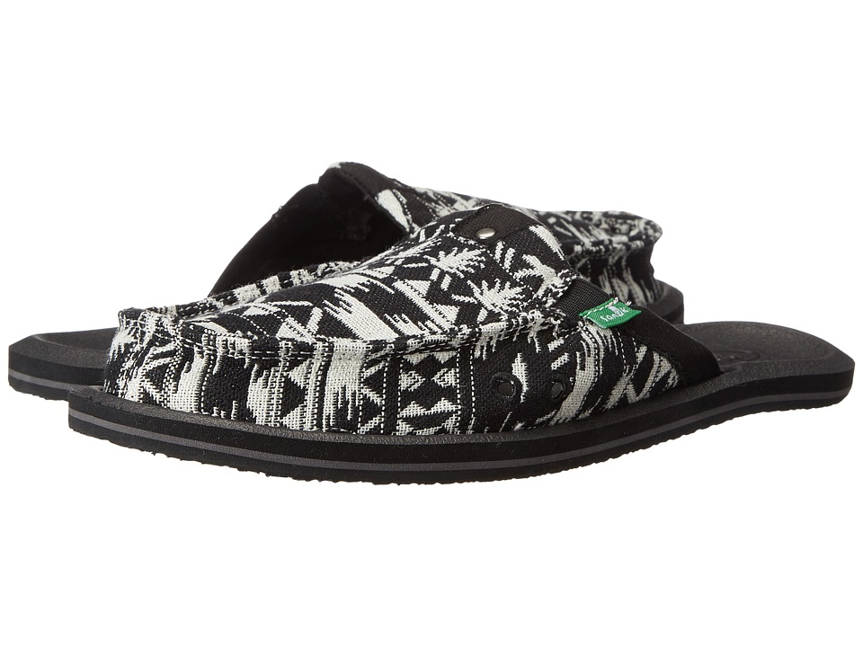 Sanuk - Getaway 2 (Black/White) Women's Slip on Shoes