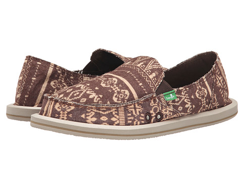 Sanuk - Johanna (Brown) Women's Slip on Shoes