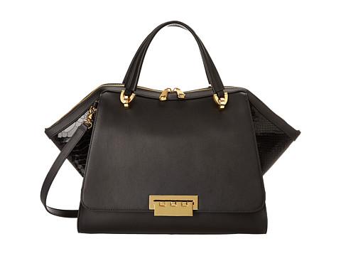 ZAC Zac Posen - Eartha Soft Double Handle (Black) Satchel Handbags