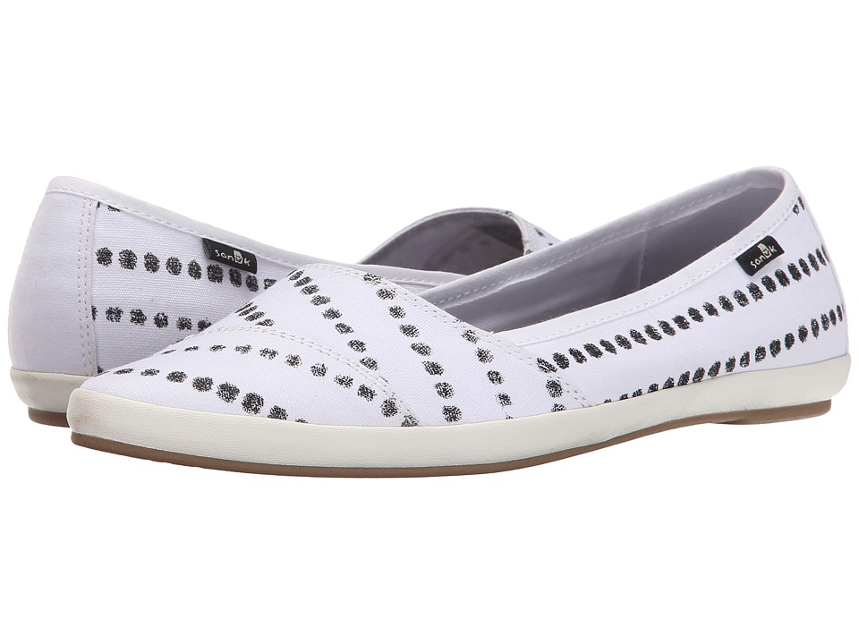 Sanuk - Kat Prowl Prints (White/Black Dots) Women