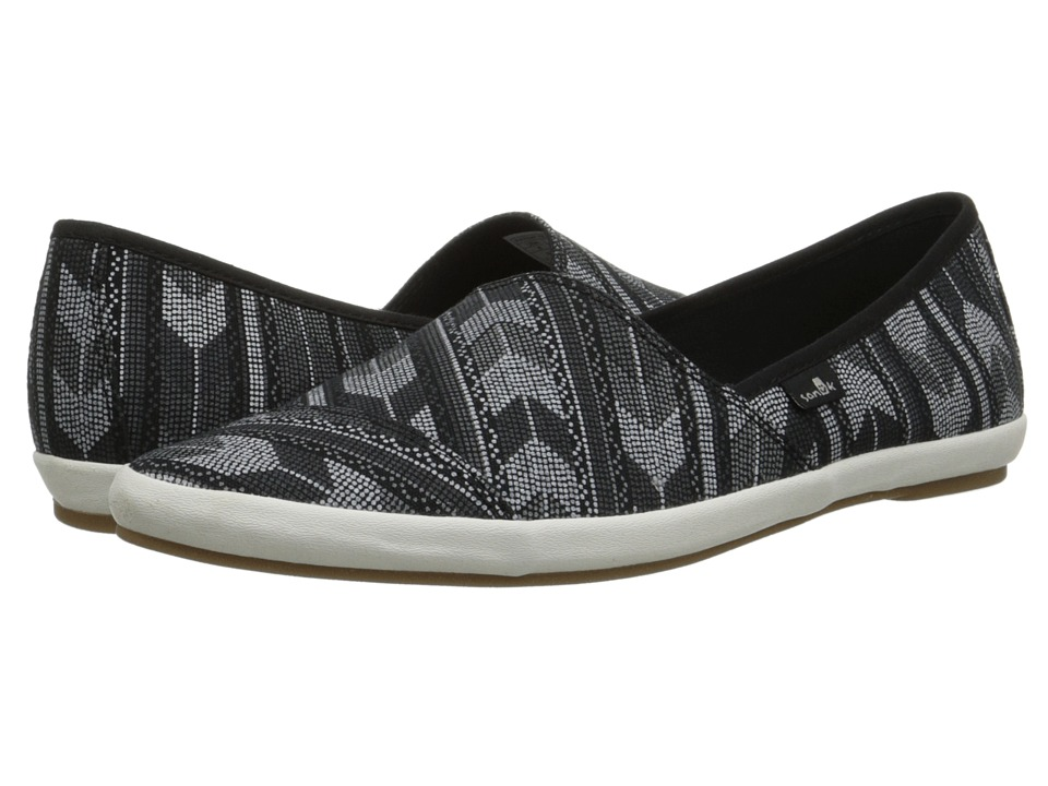 Sanuk - Kats Meow Prints (Black/White) Women