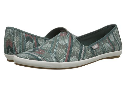 Sanuk - Kats Meow Prints (Mallard) Women's Slip on Shoes