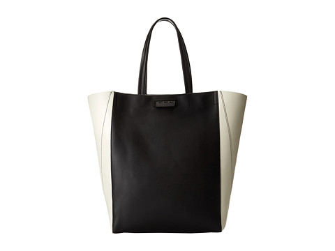 ZAC Zac Posen - Eartha Unlined Small Shopper (Black/White) Tote Handbags