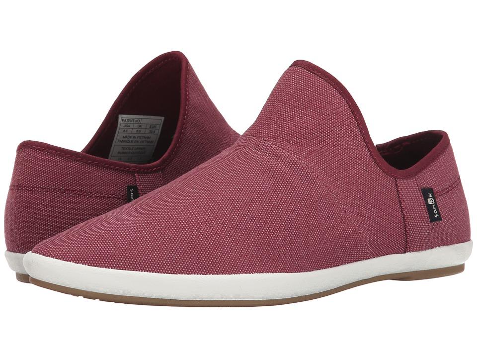 Sanuk - Katlash (Burgundy) Women's Slip on Shoes