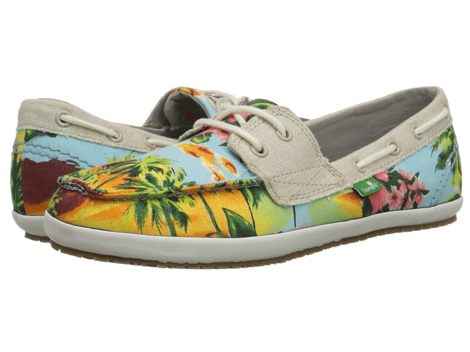 Sanuk - Tropical Sailaway 2 (Blue Hawaiian) Women