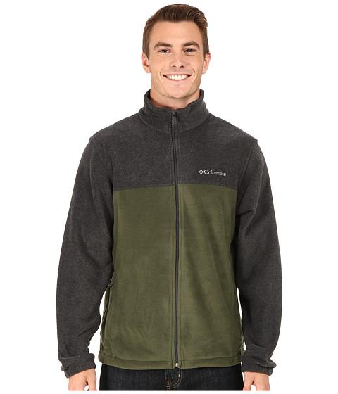 Columbia - Steens Mountain Full Zip 2.0 (Charcoal Heather/Surplus Green) Men's Coat