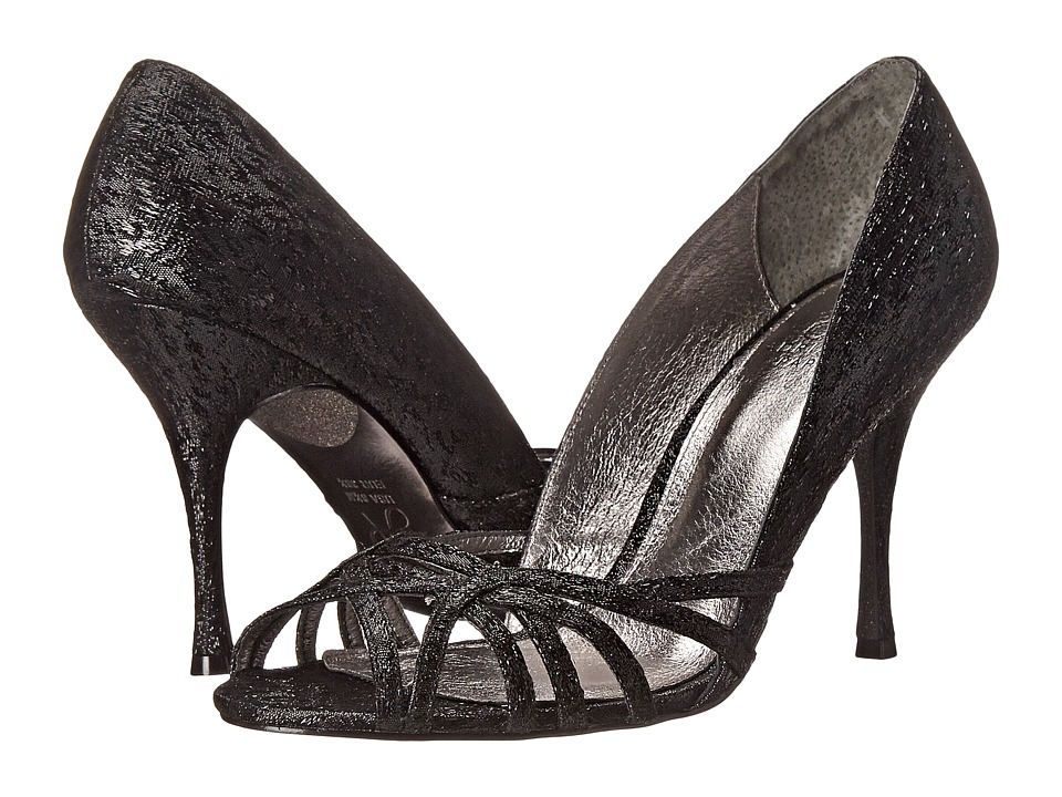 Adrianna Papell Fallon (Black Foil Sleek) High Heels