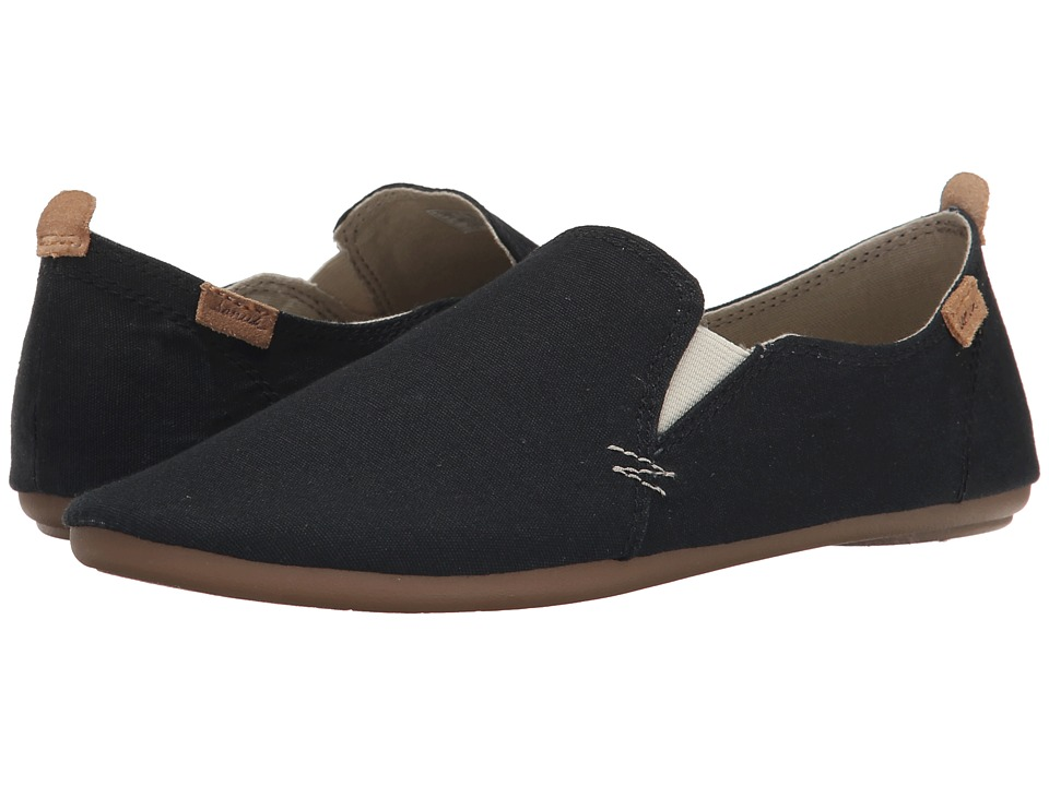 Sanuk - Isabel (Black) Women's Slip on Shoes