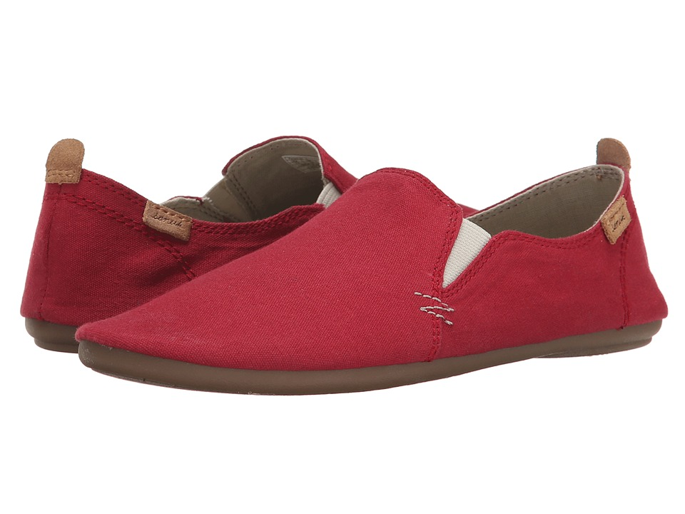 Sanuk - Isabel (Red) Women's Slip on Shoes