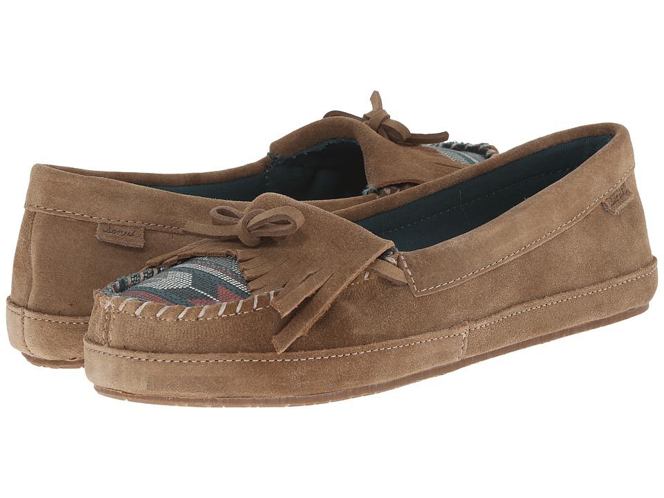 Sanuk - Lafayette (Tan/Mallard) Women's Slip on Shoes