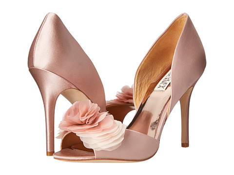 Badgley Mischka - Ginseng (Blush Satin) High Heels