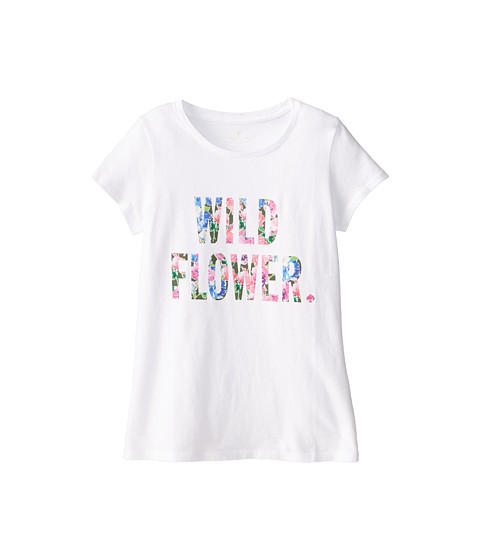 Kate Spade New York Kids - Wildflower Tee (Big Kids) (White) Girl