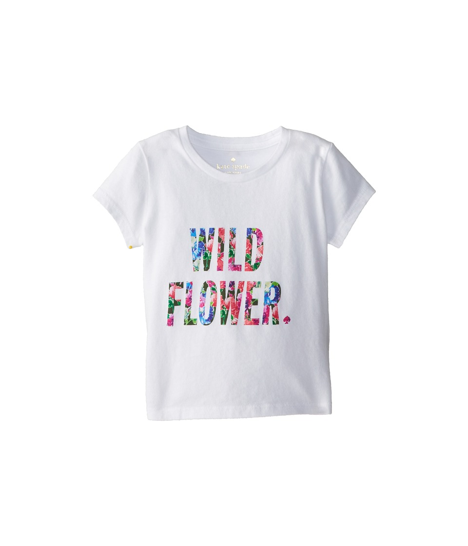 Kate Spade New York Kids - Wildflower Tee (Toddler/Little Kids) (White) Girl's T Shirt