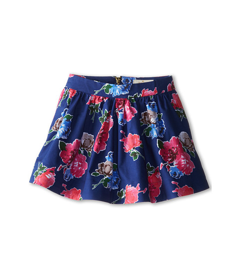 Kate Spade New York Kids - Coreen Skirt (Toddler/Little Kids) (Spring Blooms Print Hyacinth) Girl's Skirt