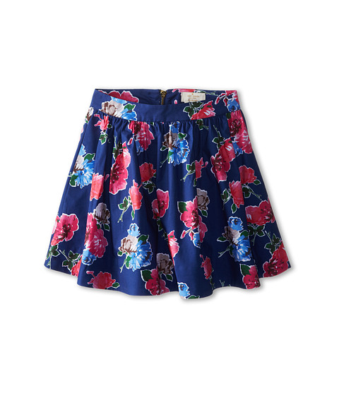 Kate Spade New York Kids - Coreen Skirt (Big Kids) (Spring Blooms Print Hyacinth) Girl's Skirt