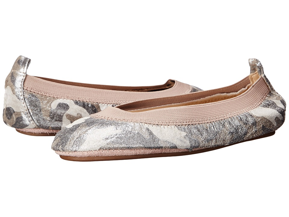 Yosi Samra Kids - Sammie Super Soft Ballet Flat (Toddler) (Pink/White Glitter Camo) Girls Shoes