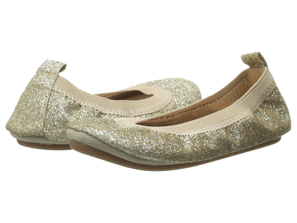 Yosi Samra Kids Sammie Super Soft Ballet Flat (Toddler) (Gold Glitter) Girls Shoes