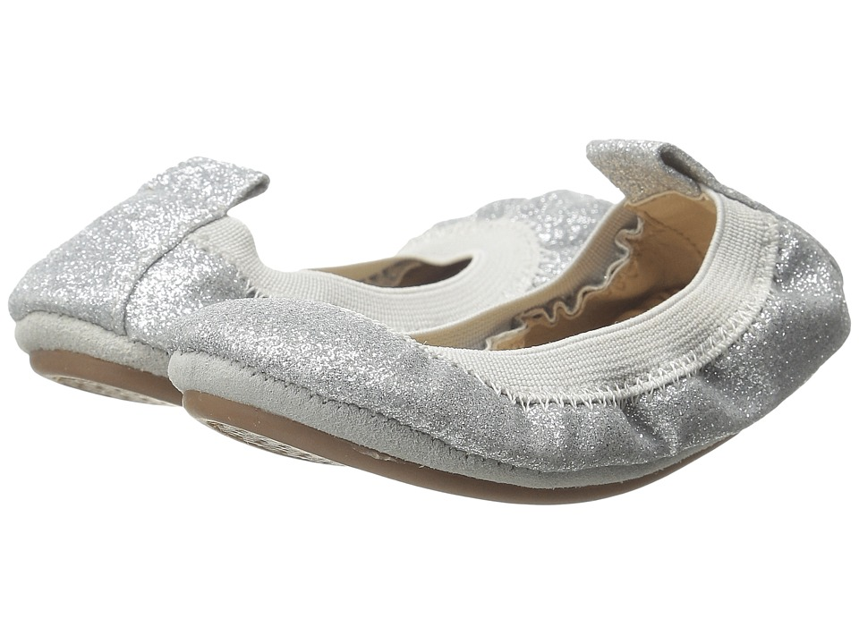 Yosi Samra Kids - Sammie Super Soft Ballet Flat (Toddler) (Silver Glitter) Girls Shoes