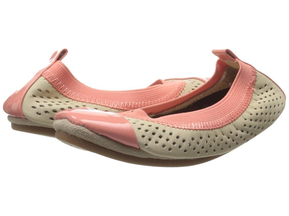 Yosi Samra Kids - Scarlet Super Soft Ballet Flat (Toddler/Little Kid/Big Kid) (Biscotti/Sugar Melon Perforated Leather) Girls Shoes