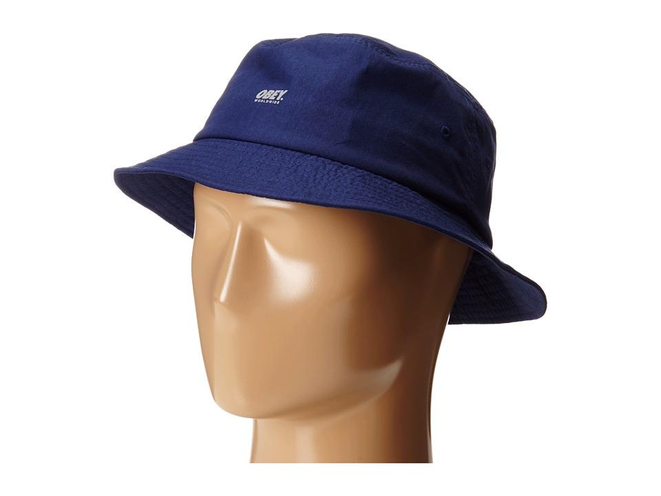 Obey - Traverse Bucket Hat (Navy) Bucket Caps