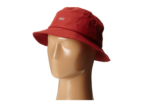 Obey - Traverse Bucket Hat (Red) Bucket Caps
