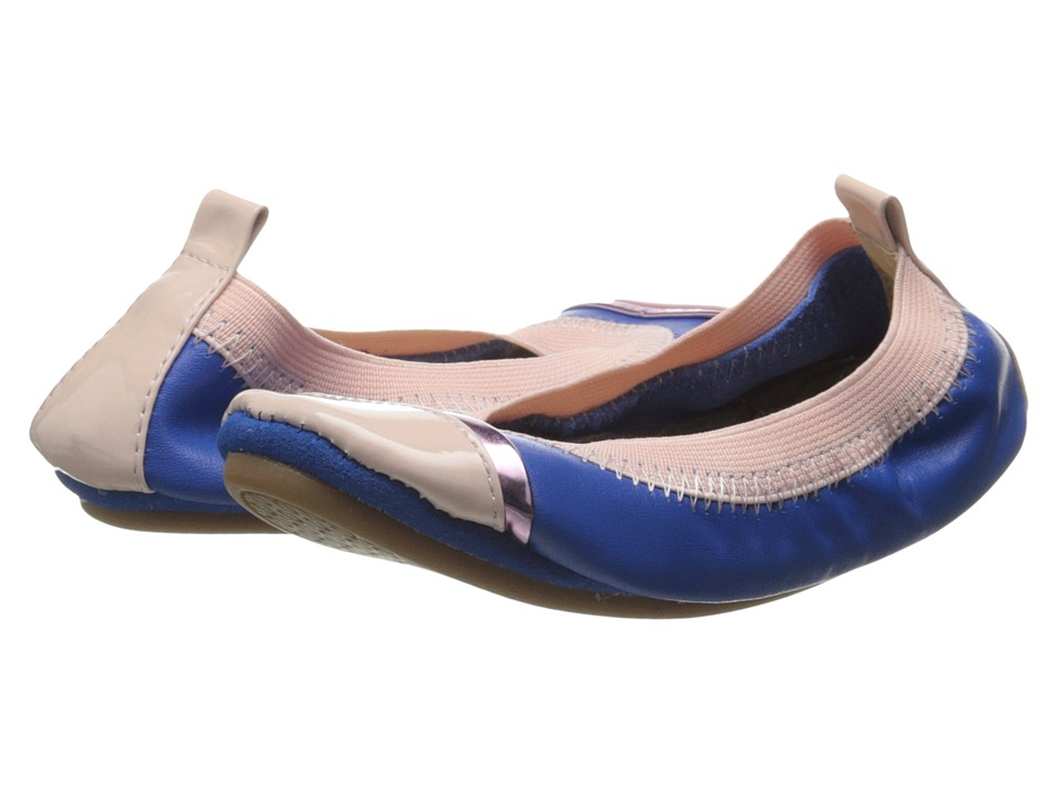Yosi Samra Kids - Sydney Super Soft Ballet Flat (Toddler/Little Kid/Big Kid) (Marina Blue/Powder Pink Leather) Girls Shoes