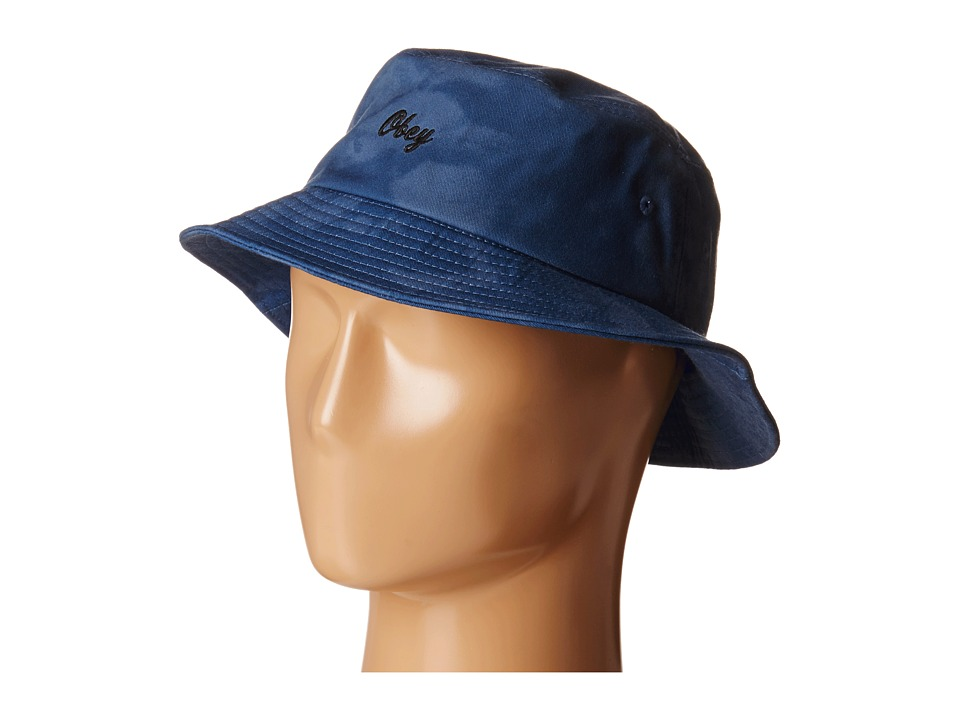 Obey - Haight Bucket Hat (Navy) Bucket Caps