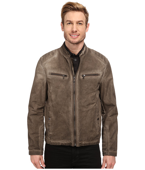 Kenneth Cole New York - Cotton Zip Front Jacket (Buckskin) Men's Coat