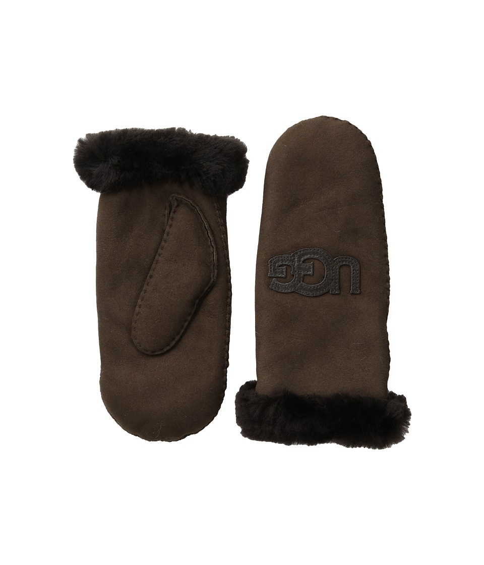 UGG - Heritage Logo Mitten (Chocolate Multi) Extreme Cold Weather Gloves
