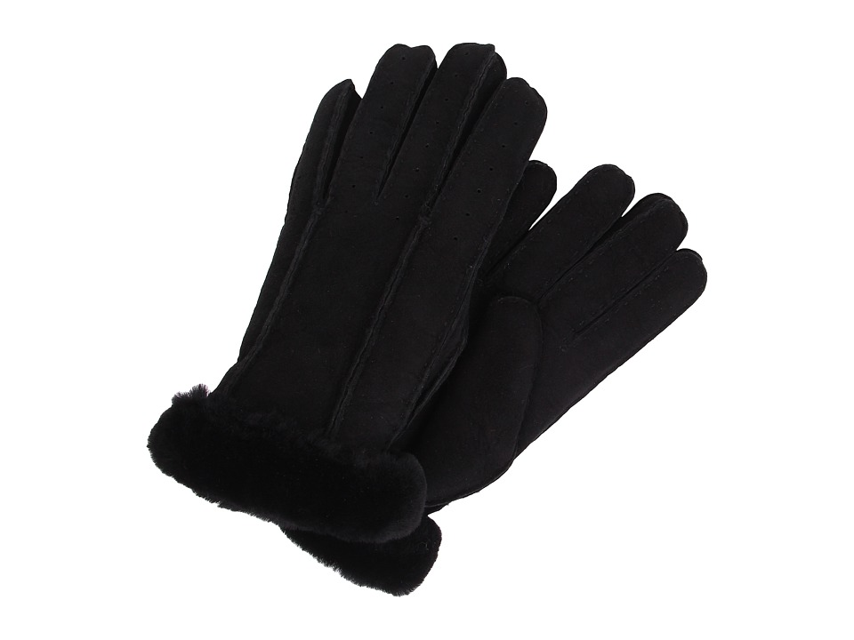 UGG - Classic Perforated Two Point Glove (Black) Extreme Cold Weather Gloves