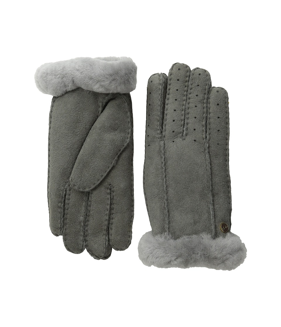 UGG - Classic Perforated Two Point Glove (Grey) Extreme Cold Weather Gloves