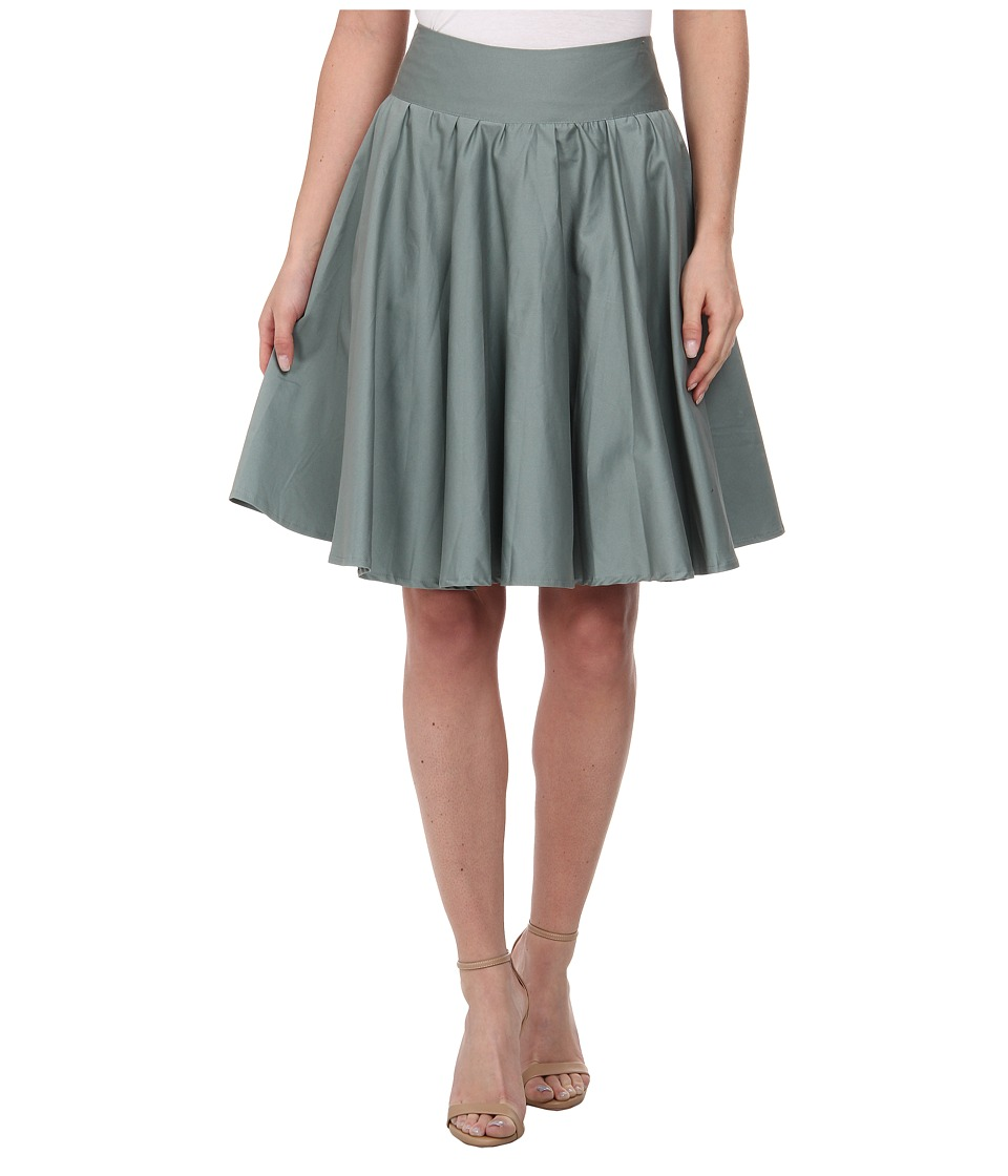 Unique Vintage - Cotton Twirl Skirt (Sage Green) Women's Skirt