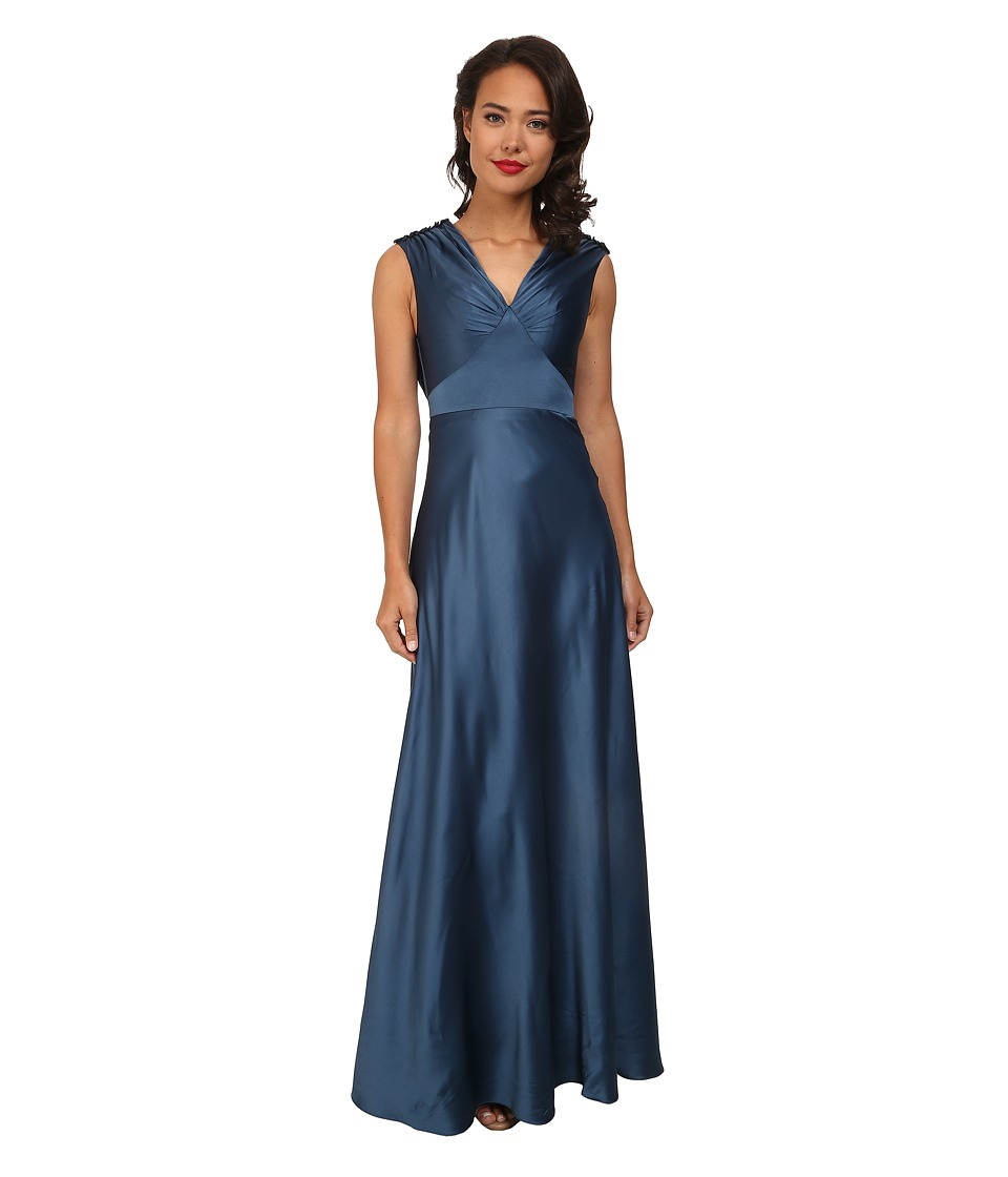 Unique Vintage - Satin Harlow Dress (Teal) Women's Dress plus size,  plus size fashion plus size appare