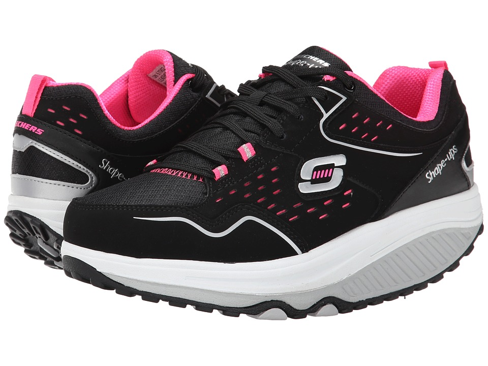 SKECHERS - Shape Ups 2.0 - Everyday Comfort (Black/Pink) Women's Shoes