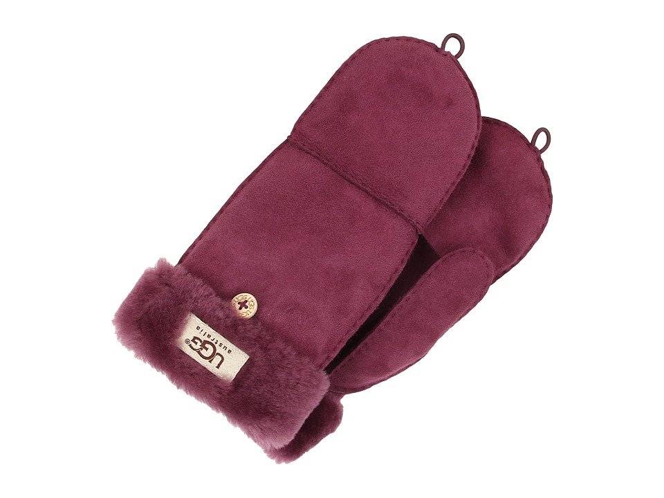 UGG - Shearling Flip Mitten (Aster) Wool Gloves