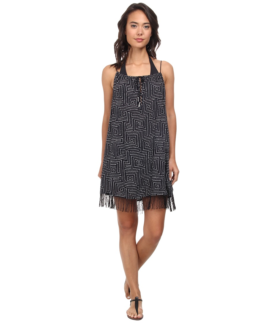 Roxy - Border Line Dress Cover-Up (Border Line True Black) Women's Swimwear