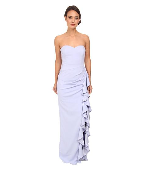 Badgley Mischka - Strapless Side Ruffle Gown (Lilac) Women