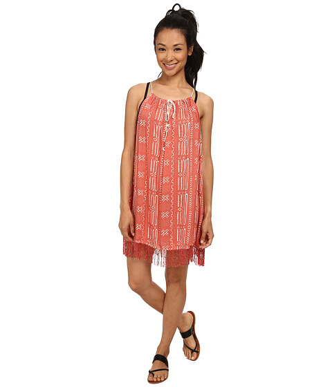 Roxy - Border Line Dress Cover-Up (Border Line Dusty Rose New) Women's Swimwear