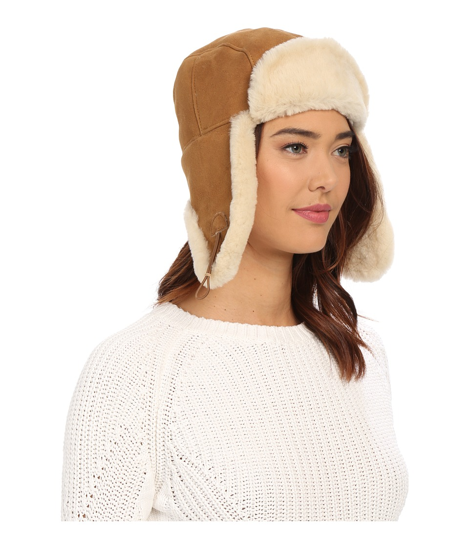 UGG - Sheepskin Bailey Trapper (Chestnut) Traditional Hats