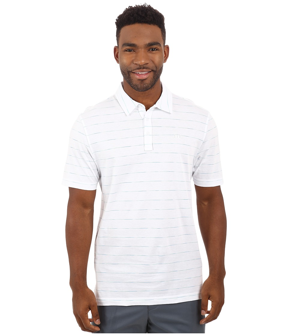 TravisMathew - Space Polo (White) Men's Short Sleeve Knit