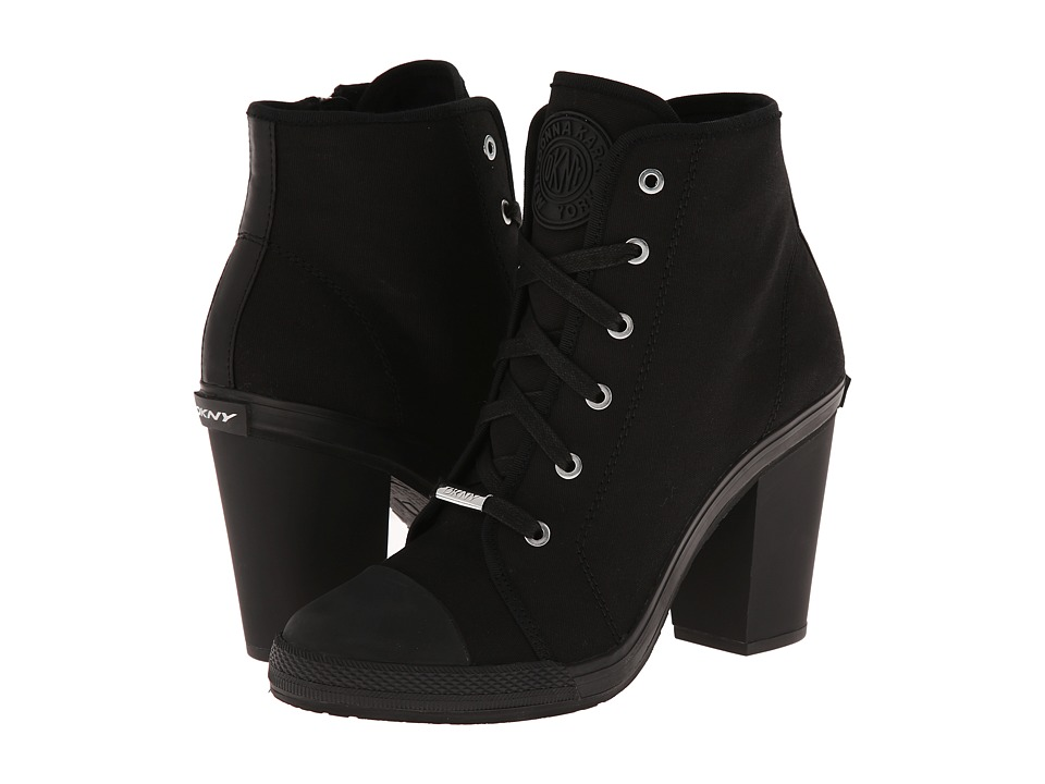 DKNY - Erin (Black Fine Canvas) High Heels