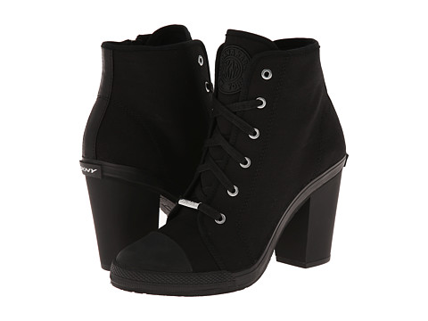 DKNY - Erin (Black Fine Canvas) High Heels