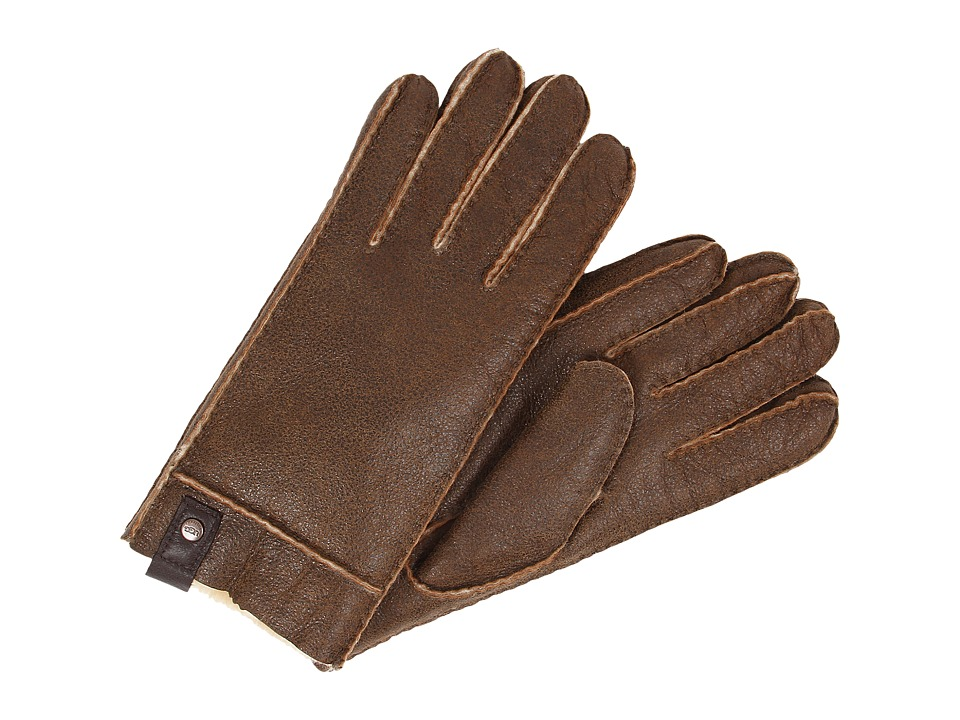 UGG - Sidewall Glove w/Tab (Bomber Chestnut) Extreme Cold Weather Gloves