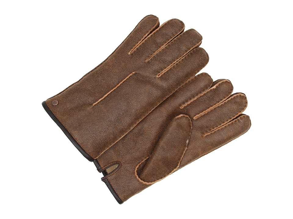 UGG - Single Point Glove w/ Binding (Bomber Chestnut) Dress Gloves