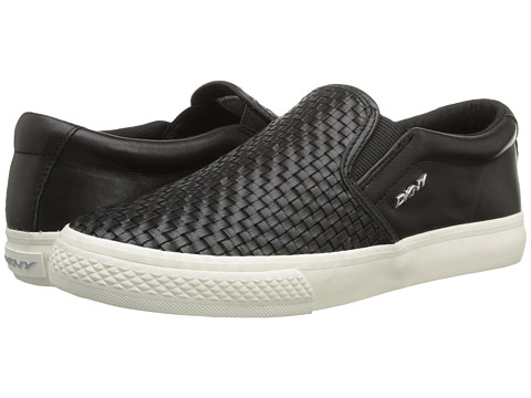 DKNY - Beth (Black Woven Nappa) Women's Slip on Shoes
