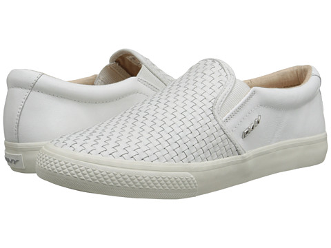 DKNY - Beth (White Woven Nappa) Women's Slip on Shoes