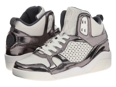 DKNY - Cleo Perfed (White/Gunmetal) Women's Lace up casual Shoes